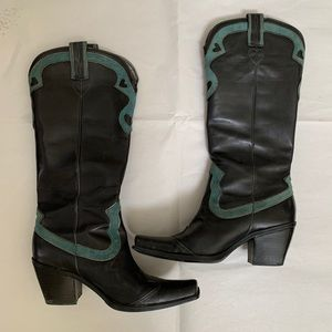 Nine West Leather Cowboy Boots size 6